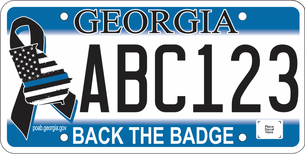 Back the Badge License Plate